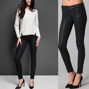 J Brand Black Stocking Coated Maria Skinny Jeans